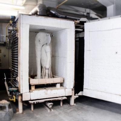 180208_Karlsruhe Multiple_Elefant im Ofen
