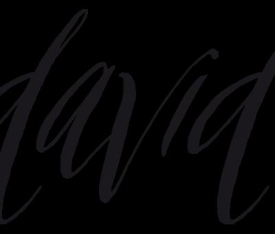 David-Schriftzug
